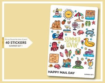 Summer themed sticker set