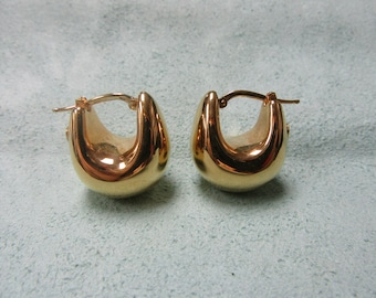 18 Karat Gold Hoop Earrings Italian