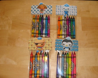 Octonauts Made To Order Crayon Favor Bags