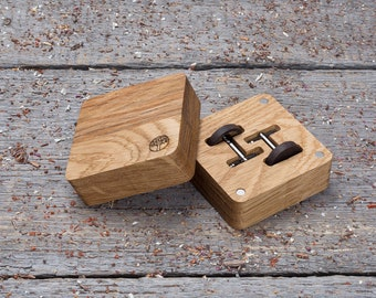 Wooden cuff links wedding set of 2-6-10-14. Wood Cufflinks in wood gift box. Round wenge black wood cufflinks, boyfriend engraved customized