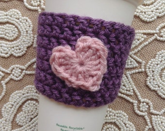 Lavender and Rose Heart Cozy