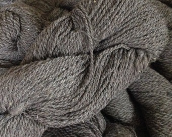 Graphite Black Cormo Silk 2 Ply Sport Weight Yarn