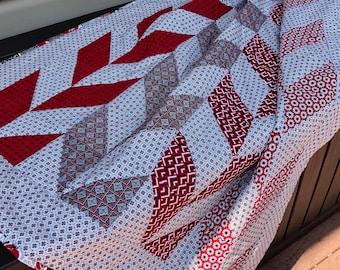 Handmade lap quilt-chevron stripes