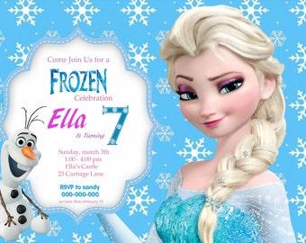 Frozen Personalized Invitations