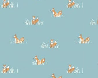 "ORGANIC Fat Quarter (18""x22"") Quilting Cotton Sly Fox Fabric from Birch Camp Sur 3 collection by Jay-Cyn"