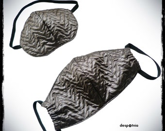 Grey - Silver Face Mask/ Surgical Mask /Burning Man Mask