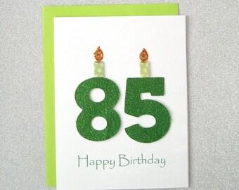 85th Birthday Card, 85th Milestone Birthday Card, 85th Birthday Greeting Card, Eighty Fifth Happy Birthday Greeting Card, The Big 85 Card