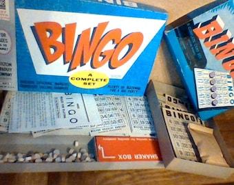 Vintage Board Game, Bingo Milton Bradley 4002