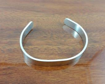 Narrow Aluminium Cuff Bracelet; minimalist bracelet, everyday bracelet, gift for him, gift for her