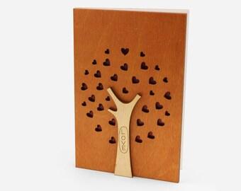 5th Wedding Anniversary Card, Wood Anniversary Gift, 5th Anniversary, Fifth Anniversary, 5 Year Anniversary Gift, 5 Year Wedding Anniversary