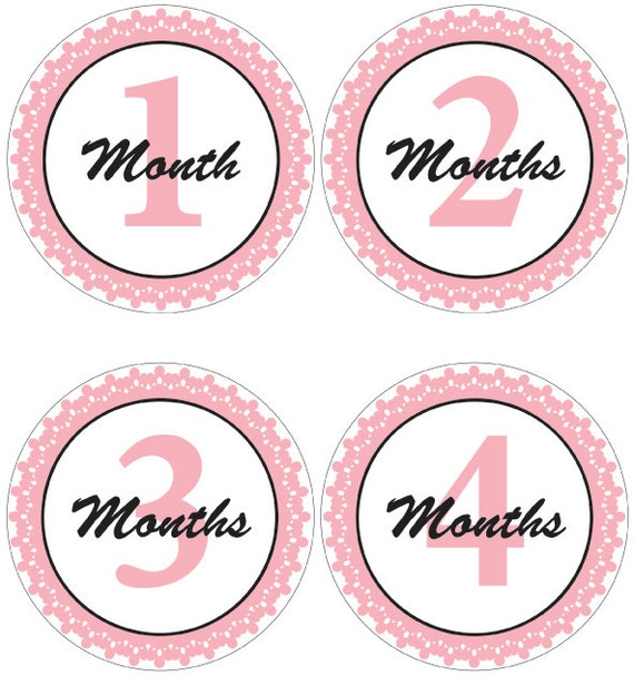 Divine image inside free printable baby month stickers
