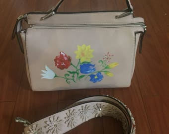Hand painted satchel