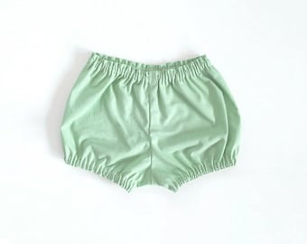 mint cotton bloomers / shorts / diaper cover