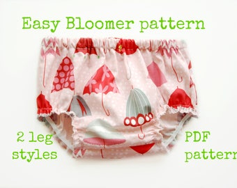 Diaper Cover pattern, Nappy pattern, Nappy covers, Bloomer sewing pattern, Baby pattern - Baby Bloomer pattern (S106) - 4 sizes
