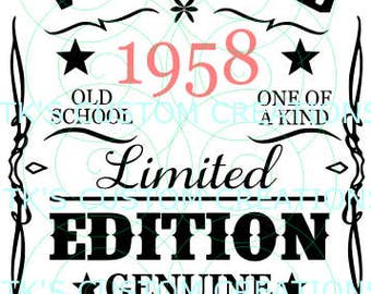 Vintage, Aged to Perfection - year can be edited.