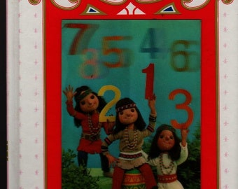 Counting Little Indians My Tiny 3-D Book Series + Rose Art Studios + Vintage Kids Book