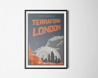 A2 Terraform London Poster