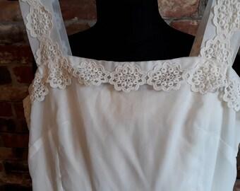 1970s Sheer White Sundress