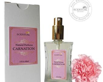 Organic Carnation Perfume Oil, Vegan Perfume, Natural Perfume Oil, Gift Idea