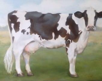 """Holstein Cow -  """"Gwendolyn"""" giclee print"""