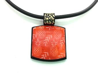 Tropical fruit pendant necklace