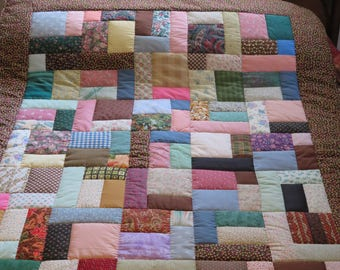 Multicolor Patchwork Throw Quilt