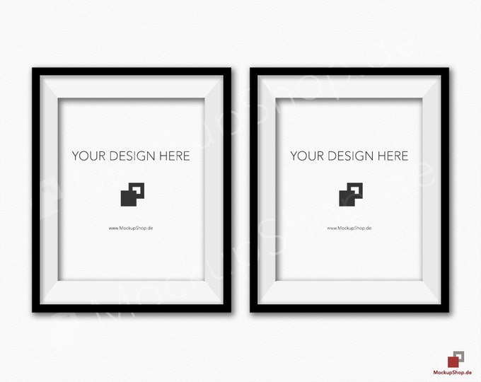 BLACK FRAME MOCKUP 8x10, Set of 2, Frame mockup, Empty Frame, Styled Stock Photography, Product Background Mockup, black frame mockup