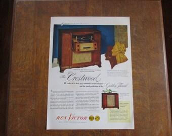1947 Original Vintage RCA Victor ad