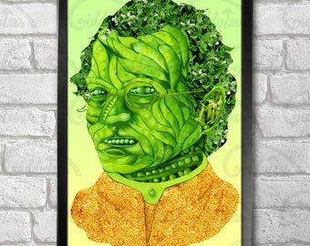 Gregor Mendel print + 3 for 2 offer! size A3+  33 x 48 cm;  13 x 19 in, Father of Genetics, Psychedelic design