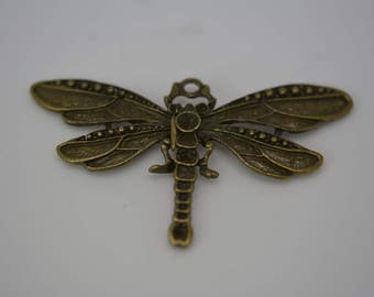 Dragonfly Pendant, Large Dragonfly, Insect Pendant, Metal Dragonfly Pendant, Set of 2 Dragonfly Pendants