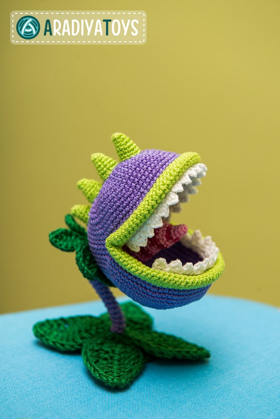 Crochet Pattern of Chomper from Plants vs Zombies