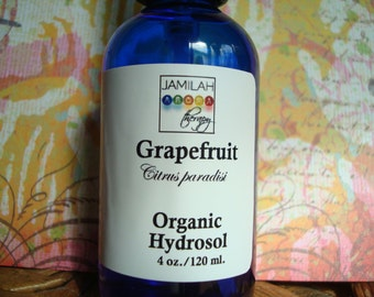 Grapefruit Hydrosol | 100% Organic | Anti-Oxidant Oily Skin Toner | Anti-Aging | Hair Tonic | Moves Cellulite | Uplifts Mood | Anti-Fatigue