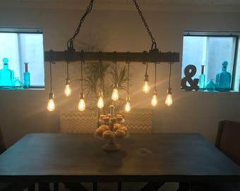 Wood Light Fixture, Light Fixture Ceiling, Beam Light, Edison Light Fixture, Chandelier Lighting Wood, Barnwood Lighting, Lighting Decor