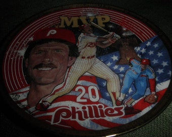Baseball Mike Schmidt Phillies Porcelain Plate Collection  S/N 1994