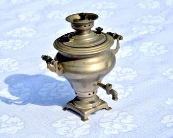 Small Decorative Russian Samovar-Miniature Samovar-Souvenir from USSR Russia - Kitchen décor-Metal Tea Pot-Russian home décor