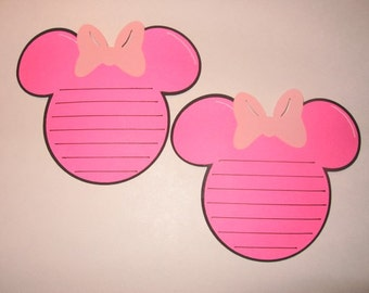 Set of 4 Minnie Head Journaling Tags