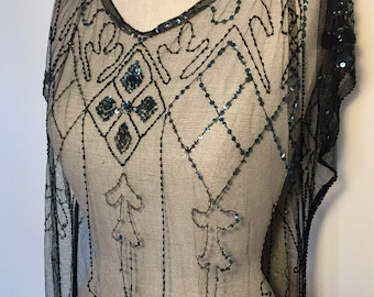 Vintage 1920s Sequin Dress As Is
