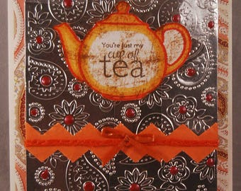Cup of Tea Blank Greeting Card