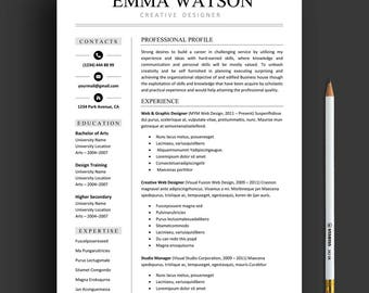 Resume Template, Professional Resume Template Instant Download, Creative Resume  Template For Word And Pages