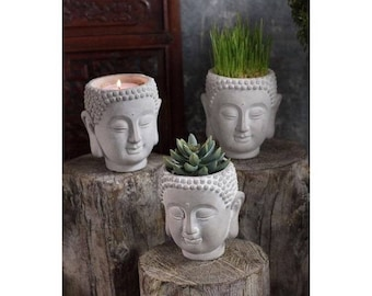 Cement Buddha Planter