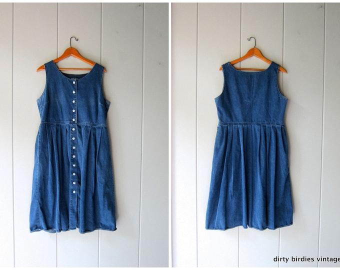 90s Denim Chore Dress