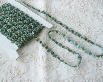 RIBBONWORK - Silk Ribbon Rosette Trim imported from France - New - Buds and Bows