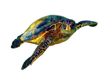"Artprint of illustration ""hawksbill sea turtle"""