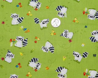 Woodland Forest Friends Racoon - Fabric by the Yard