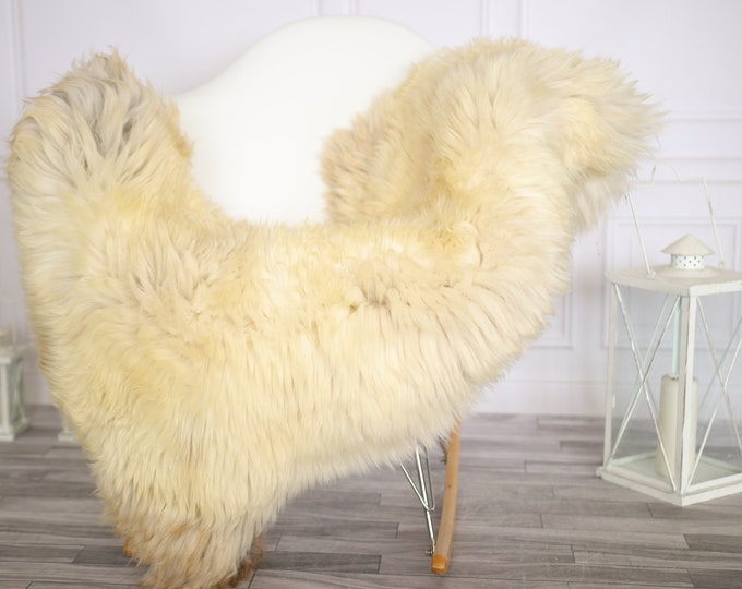 Sheepskin Rug   Real Sheepskin Rug   Shaggy Rug   Chair Cover   Sheepskin Throw   Beige Sheepskin   Home Decor   #Apriher46