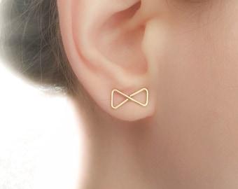 Bow Earrings - Bow Stud Earrings - Elegant Stud Earrings - Elegant Earrings - Infinity Earrings - Bow Tie Earrings - Bow Tie Studs
