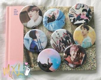 BTS Spring Day K-pop Pinback Buttons