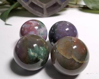 Fancy Jasper Gemstone Orb Sphere - Stone of Tranquil Spirit