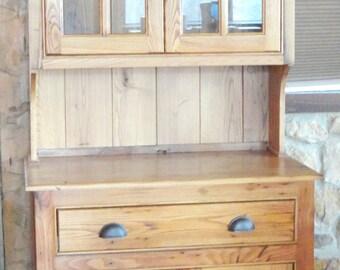 Reclaimed Barn Wood Hutch, Choice of Barn Wood, FREE SHIPPING