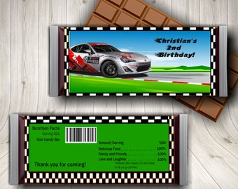 Race Car Birthday, Race Car Party, Candy Bar Wrapper, Racing Party, Race Car Theme, Race Car Printables, Race Car Decor, Party Favors